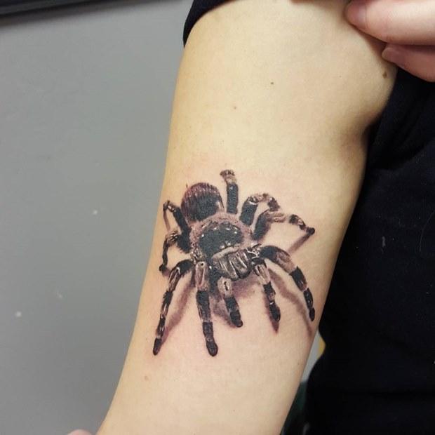 Spider On The Arm 3d Tattoo 3d Tattoo Design
